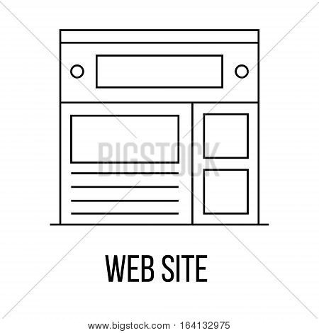 Web site icon or logo line art style. Vector Illustration.