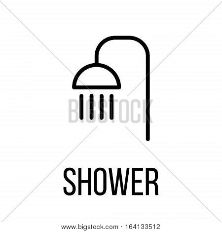 Shower icon or logo in modern line style. High quality black outline pictogram for web site design and mobile apps. Vector illustration on a white background.