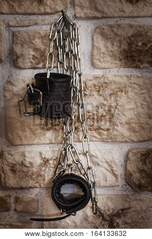 Handcuff Hanging On The Wall