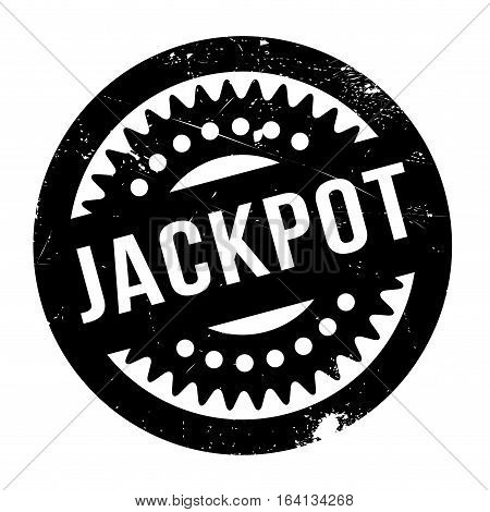 Jackpot rubber stamp. Grunge design with dust scratches. Effects can be easily removed for a clean, crisp look. Color is easily changed.