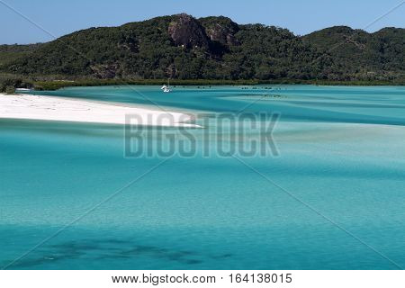 Hill Inlet Whitsunday Island at the tip of Whitehaven Beach Queensland Australia.