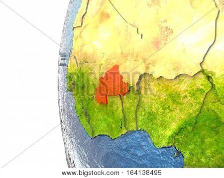 Burkina Faso In Red