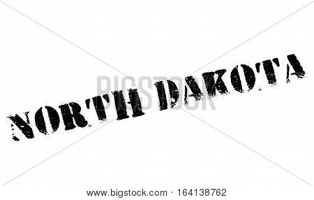 North Dakota stamp. Grunge design with dust scratches. Effects can be easily removed for a clean, crisp look. Color is easily changed.
