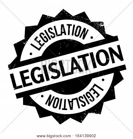 Legislation rubber stamp. Grunge design with dust scratches. Effects can be easily removed for a clean, crisp look. Color is easily changed.