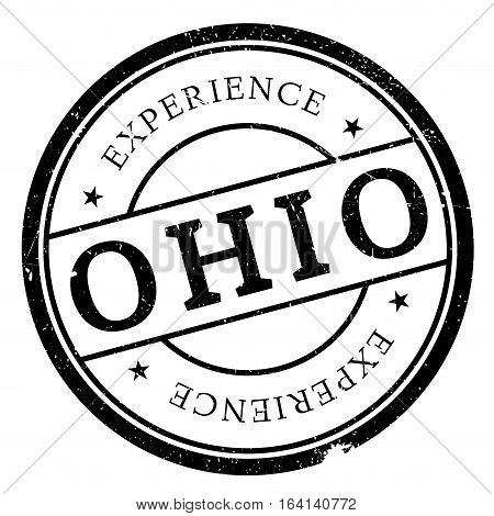 Ohio stamp. Grunge design with dust scratches. Effects can be easily removed for a clean, crisp look. Color is easily changed.