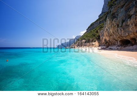 Cala di Gabbiani beach near Cala Biriola and Cala Goloritze Baunei Sardinia Italy