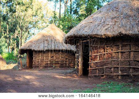 Traditional, Tribal Hut Of Kenyan People