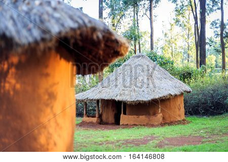 Traditional, Tribal Village Of Kenyan People