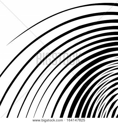 Abstract Spirally, Swirl Element. Geometric Spirals. Twisted Shapes.
