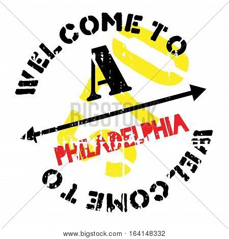Philadelphia stamp. Grunge design with dust scratches. Effects can be easily removed for a clean, crisp look. Color is easily changed.