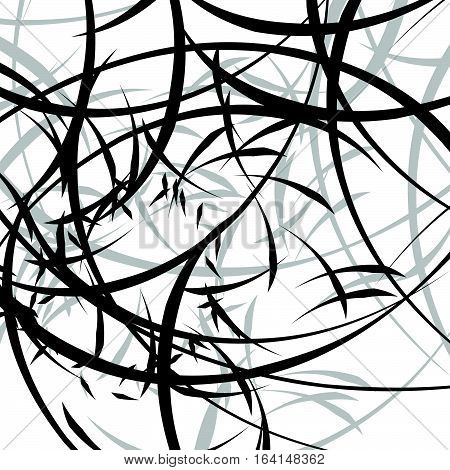 Abstract Illustration With Curvy Lines. Random Dynamic Lines Pattern.