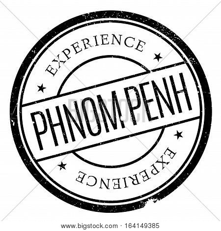 Phnom Penh stamp. Grunge design with dust scratches. Effects can be easily removed for a clean, crisp look. Color is easily changed.