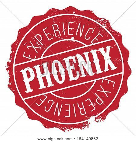 Phoenix stamp. Grunge design with dust scratches. Effects can be easily removed for a clean, crisp look. Color is easily changed.