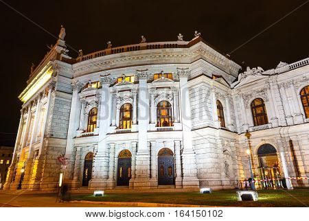 Night View Of Vienna State Opera House, Staatsoper, Austria
