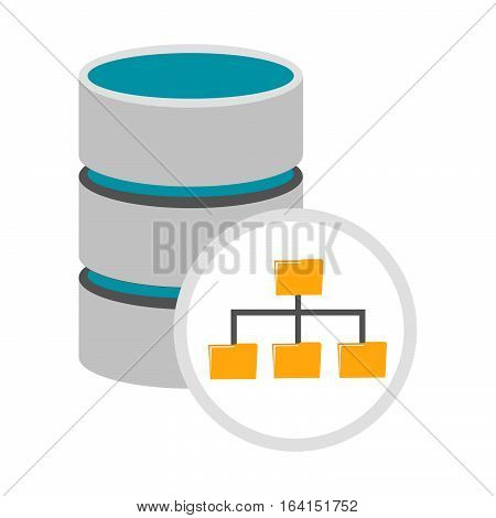Database management icon. Database architecture symbol concept