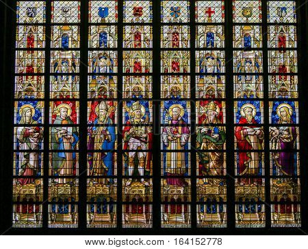 Stained Glass - Catholic Saints