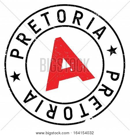 Pretoria stamp. Grunge design with dust scratches. Effects can be easily removed for a clean, crisp look. Color is easily changed.
