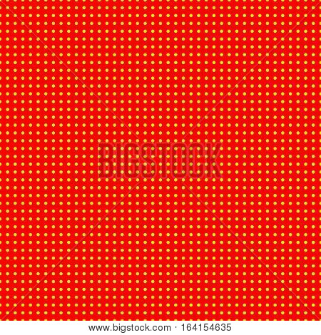 Red and yellow (50s 60s popart) background pattern. poster