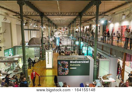 Madrid Spain - November 17 2012: Tourist visiting National science museum on November 17 2012 in Madrid Spain.