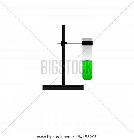 Vector icon flask beaker laboratory on illustration