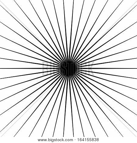 Radial Lines Element. Geometric Background, Pattern With Circular Converging Lines.