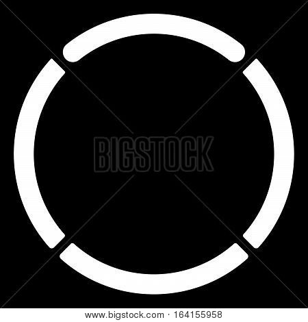 Segmented Circle Cross-hair, Target Symbol. Chart Template, Gui Element