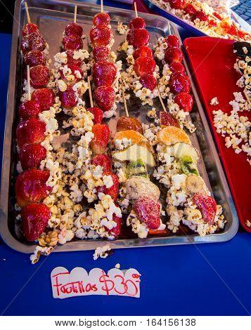 Sweet treats at the feria de mataderos in Buenos Aires