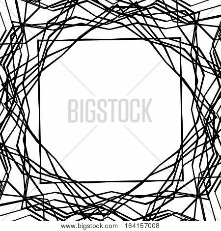 Tangled Random Curvy Lines Pattern, Geometric Element