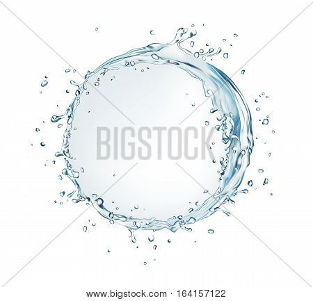 vector water splash circle bubble shape on white background