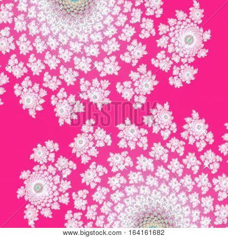 Pink and white fairytale girlish floral design background image