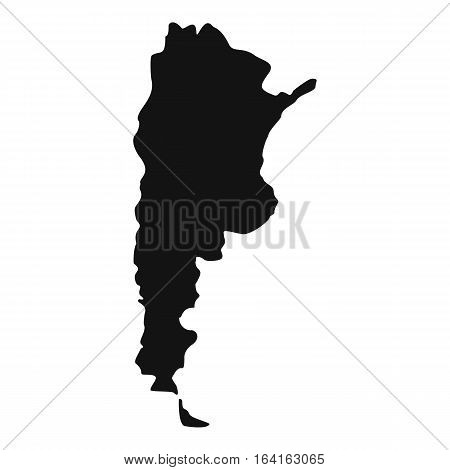 Map of Argentina icon. Simple illustration of map of Argentina vector icon for web