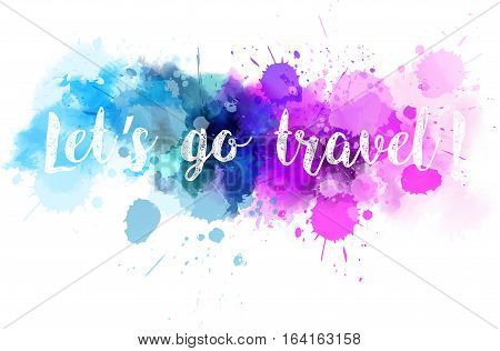 Watercolor Line Travel Background
