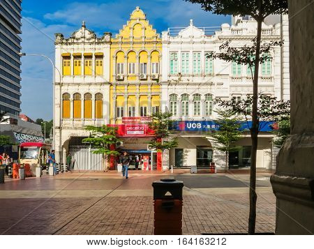 KUALA LUMPUR, MALAYSIA - JANUARY 14, 2014: Colonial district of Kuala Lumpur, Malaysia