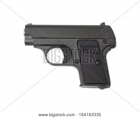 The Gun isolated on white background, Air-soft guns.