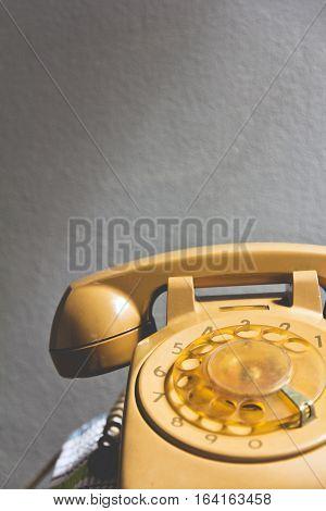 Still life image of retro rotary dial telephone