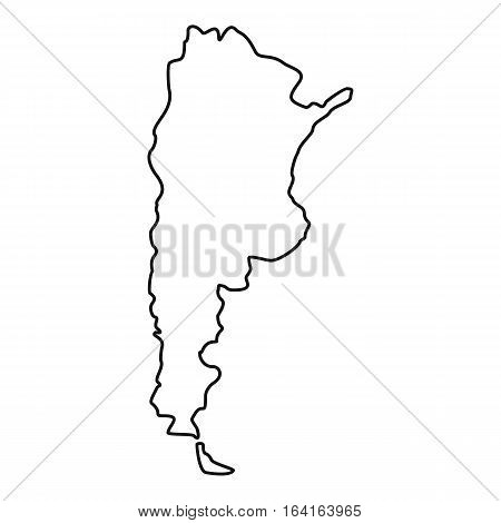 Argentina map icon. Outline illustration of Argentina map vector icon for web