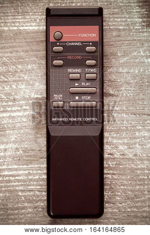 Old remote control from video recorder or player
