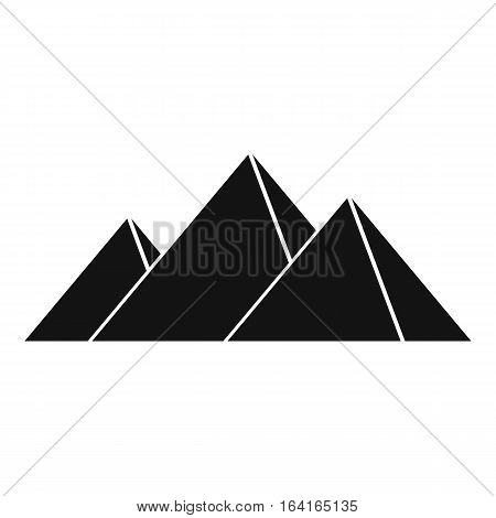 Pyramids in Giza icon. Simple illustration of pyramids in Giza vector icon for web