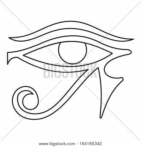 Eye of Horus icon. Outline illustration of eye of Horus vector icon for web