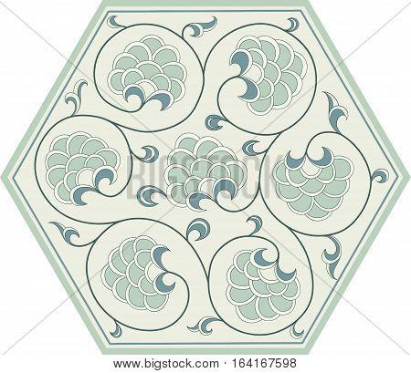 Floral Ornamental pattern. Traditional Arabic seamless ornament. . Iznik .Vector.  Background
