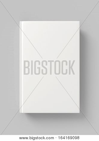 Blank book hardcover. 3D illustration. 3D rendering