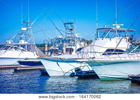 bohiket marina with boats near kiawah island