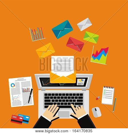 Digital Marketing Email.Send Business Mail. Send message