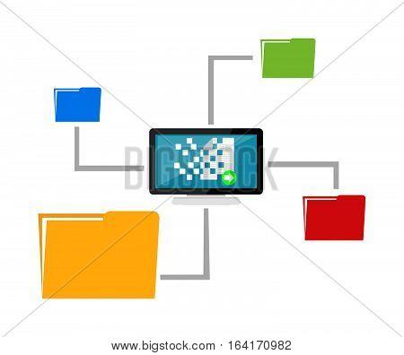 File sharing. Data Distribution.  Content management. File transfer concept