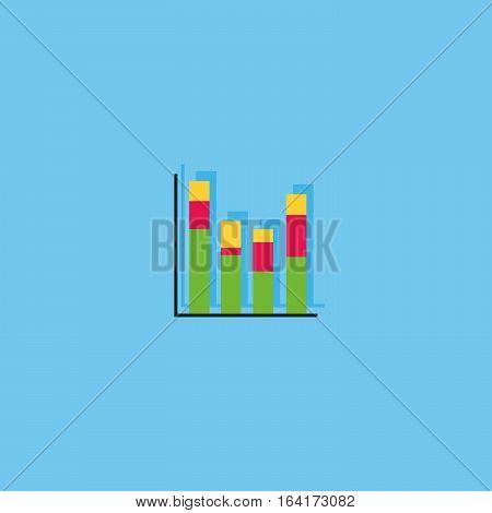 business growth concept icon. Profit graph symbol.