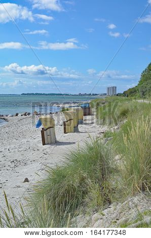 Beach at Suedstrand on Fehmarn at baltic Sea,Schleswig-Holstein,Germany