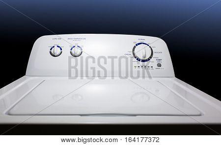 Washing Machine-Wide View-Full View - Washing machine front panel.