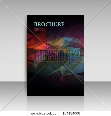 Abstract background advertising brochure design elements. Vector illustration EPS 10 for layout page newsletters vertical banner