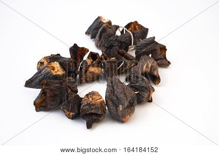 Sun dried aubergine dry new stock pictures