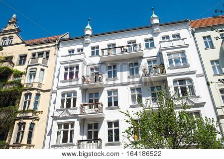 Restored houses at Prenzlauer Berg in Berlin, Germany